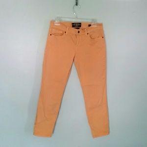 Lucky Brand Zoe straight crop orange jeans